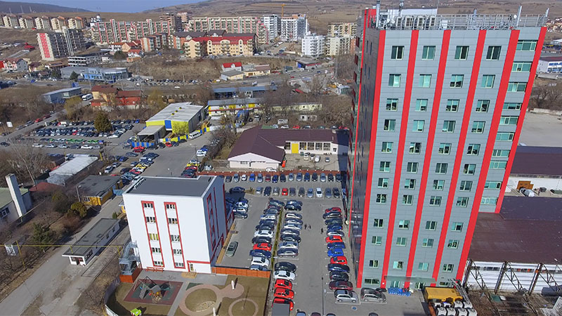 amera tower drone view