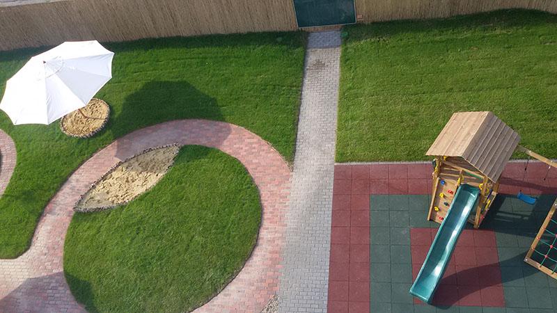 kindergarden backyard from service building